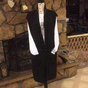 2 PC Black cover up with pockets and belt wht LST